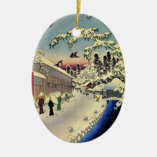 Ornamento japonés del navidad del vintage adorno para reyes