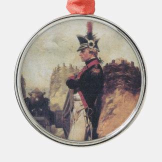 Ornamento joven de Alexander Hamilton Adorno Redondo Plateado
