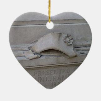 Ornamento joven de Alexander Hamilton Adorno De Cerámica En Forma De Corazón