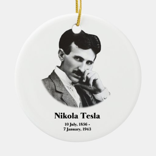 Ornamento joven de Tesla Adorno De Navidad