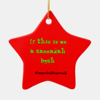 Ornamento judío del navidad adorno navideño de cerámica en forma de estrella