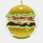 """Ornamento jugoso gordo grande de la hamburguesa Adorno"