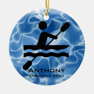 Ornamento Kayaking personalizado Adornos