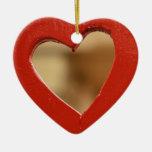 Ornamento ladeado del corazón ornamentos para reyes magos