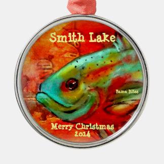 """Ornamento """"lago de 2014 navidad de los pescados ornamente de reyes"""