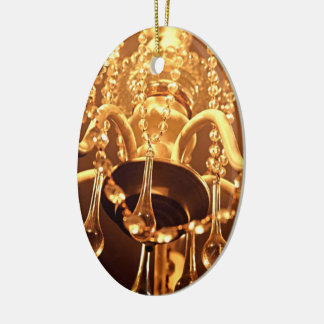 ORNAMENTO lamentable del ÓVALO de Bling 1-Gold de Adorno Navideño Ovalado De Cerámica