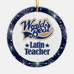Ornamento latino del regalo del profesor adorno
