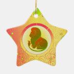 Ornamento Leo de la muestra de la estrella Adorno
