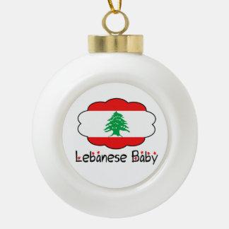 Ornamento libanés del navidad del bebé de la adorno de cerámica en forma de bola