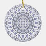 Ornamento ligero de la mandala de la escama ornaments para arbol de navidad
