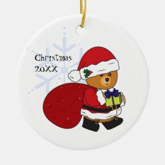 Ornamento lindo adaptable del navidad del oso de p ornamentos de reyes magos