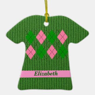 Ornamento lindo de la camisa del suéter de Argyle Ornamento De Navidad