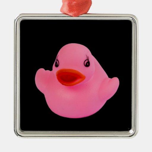 Ornamento lindo de la diversión del rosa de goma ornaments para arbol de navidad