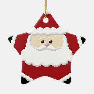 Ornamento lindo de la estrella de Papá Noel Adorno De Cerámica En Forma De Estrella