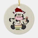 Ornamento lindo de la vaca del navidad ornamento de reyes magos