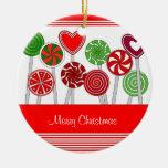Ornamento lindo de los Lollipops del navidad Adorno De Navidad