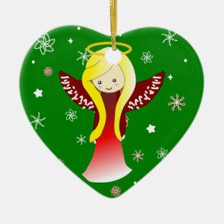 Ornamento lindo del ángel del navidad ornamentos para reyes magos