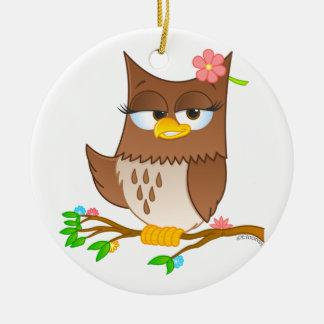 Ornamento lindo del árbol de navidad de Olivia Adorno Navideño Redondo De Cerámica