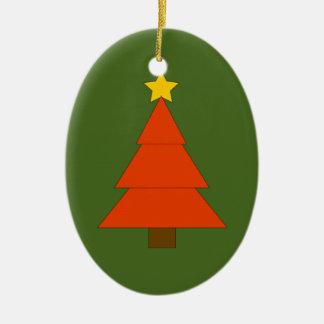 Ornamento lindo del árbol de navidad del día de adorno navideño ovalado de cerámica