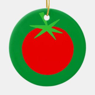 Ornamento lindo del árbol de navidad del jardinero adorno redondo de cerámica