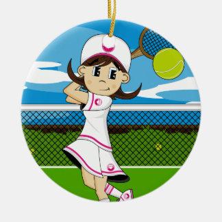 Ornamento lindo del chica del tenis ornaments para arbol de navidad