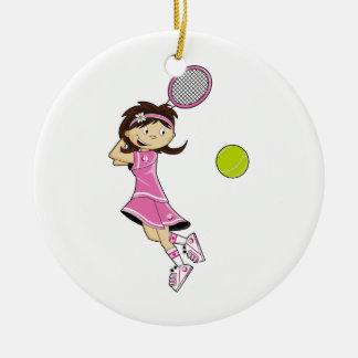 Ornamento lindo del chica del tenis adorno para reyes