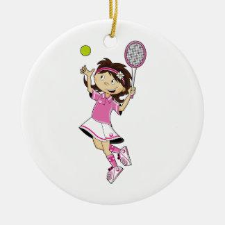 Ornamento lindo del chica del tenis ornamento de navidad