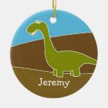 Ornamento lindo del dinosaurio del dibujo animado ornamento para arbol de navidad