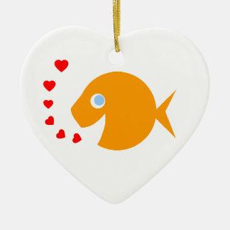 Ornamento lindo del Goldfish para el árbol de Ornamentos De Reyes Magos