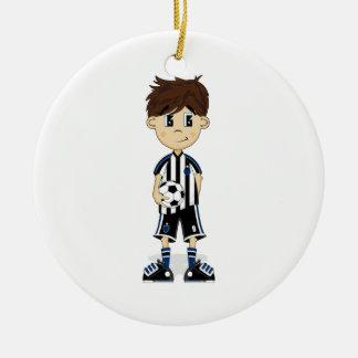 Ornamento lindo del muchacho del fútbol ornato