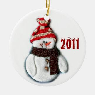 Ornamento lindo del muñeco de nieve del navidad 20 adornos de navidad