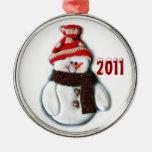Ornamento lindo del muñeco de nieve del navidad ornamente de reyes
