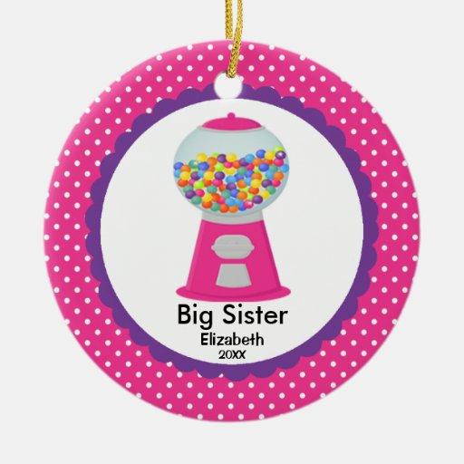 Ornamento lindo del navidad de la hermana grande d ornaments para arbol de navidad