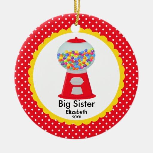 Ornamento lindo del navidad de la hermana grande d ornamento para arbol de navidad
