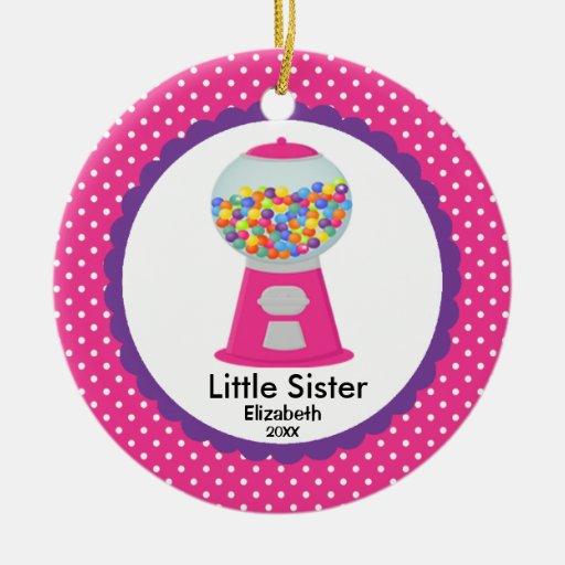 Ornamento lindo del navidad de la pequeña hermana  adornos de navidad