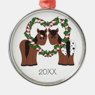 Ornamento lindo del navidad de los pares del cabal ornamentos de reyes magos