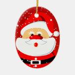 Ornamento lindo del navidad de Papá Noel Ornamento De Navidad