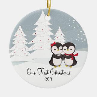 Ornamento lindo del navidad del amor de los pares  ornamentos para reyes magos