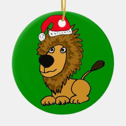 Ornamento lindo del navidad del león XL Ornamento De Navidad