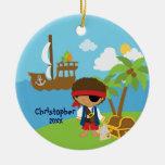Ornamento lindo del navidad del pirata del muchach ornamentos para reyes magos