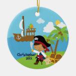 Ornamento lindo del navidad del pirata del muchach ornamente de reyes