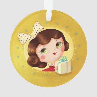 Ornamento lindo del navidad del vintage de la