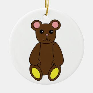 Ornamento lindo del oso de Brown Ornamentos De Reyes