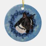 Ornamento lindo del perro de Boston Terrier Ornamento De Reyes Magos