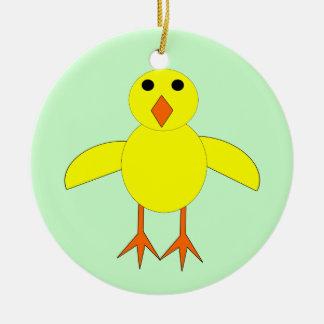 Ornamento lindo del personalizable del polluelo de ornamentos para reyes magos