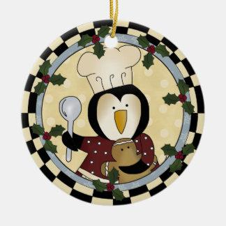 Ornamento lindo del pingüino adorno para reyes