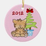 Ornamento lindo personalizado del gato del navidad ornamento para reyes magos