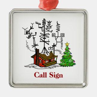 Ornamento loco del navidad del equipo de radio-afi ornatos