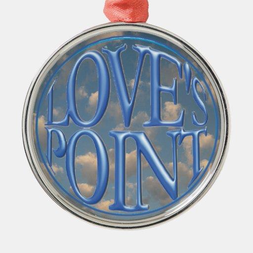 Ornamento: Logotipo del punto del amor Adorno De Navidad