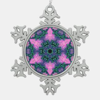 Ornamento luminoso del copo de nieve de la adorno de peltre en forma de copo de nieve